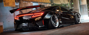 Gallery: Liberty Walk NSX on Forgiato Maglia-ECL Wheels