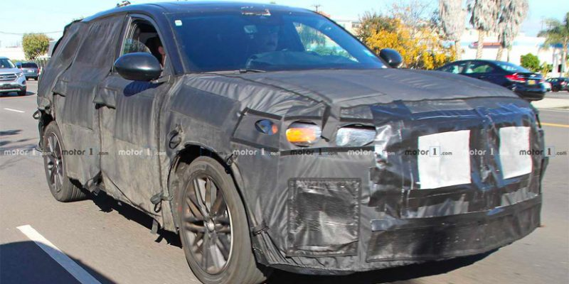 Acura MDX Test Mule Spied