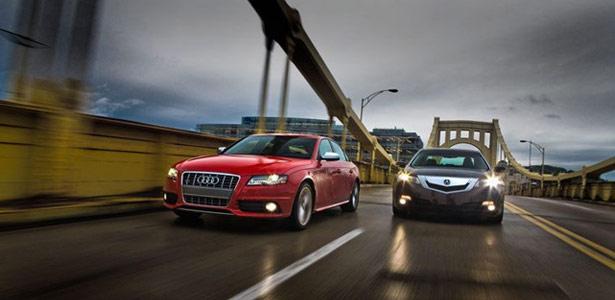 Acura TL vs Audi S4 © Automobile Magazine