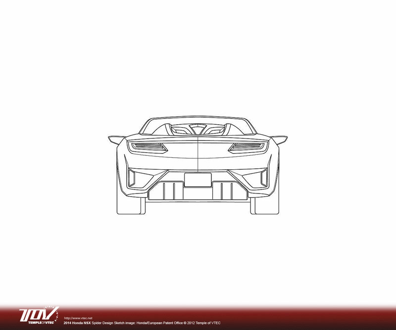 NSX Roadster Sketches From The European Patent Office