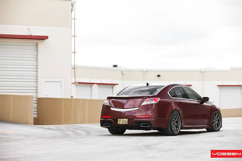 Vossen Wheels: Brian's Basque Red Pearl 2010 Acura TL
