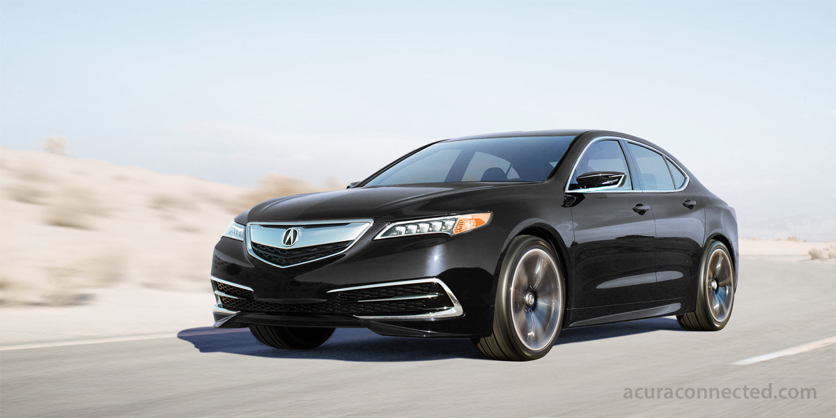 The Acura TLX Prototype is fiery in Athletic Red Pearl, yet classy