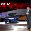 Mike Accavitti, senior vice president and general manager of Acura introduces the 2015 TLX at the New York International Auto Show (NYIAS), April 16, 2014.