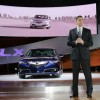 Mat Hargett, vice president of Acura Development and chief engineer of the 2015 TLX provides technical information at the New York International Auto Show (NYIAS), April 16, 2014.