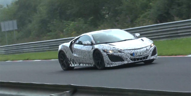 Video: 2015 Acura NSX Testing on the Nürburgring