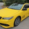 Acura TLX full wrap in matte yellow
