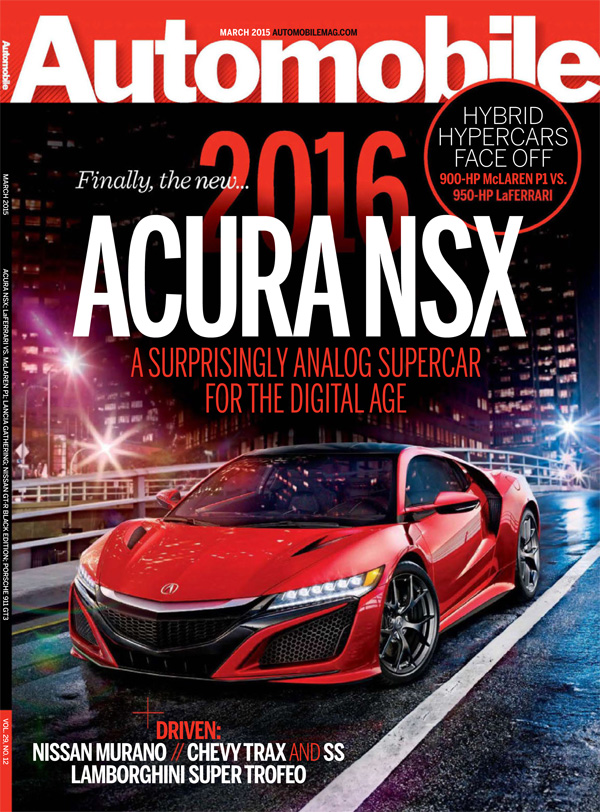 2016 Acura Nsx Makes Front Cover Of Motor Trend And Automobile Magazine on acura s
