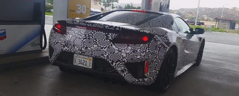 Next Generation Acura NSX Spied at Gas Station