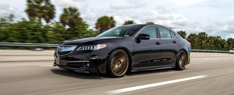 Crystal Black Pearl 2015 Acura TLX on Vossen VFS