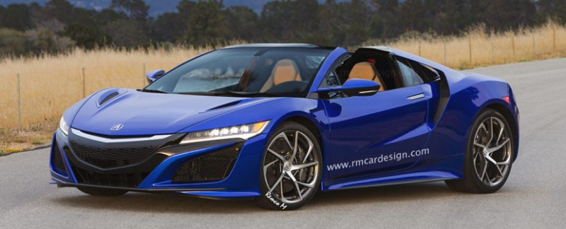 Acura NSX Roadster in Nouvelle Blue Pearl