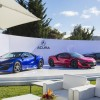 Acura NSX Valencia Red Pearl, Nouvelle Blue Pearl, Berlina Black