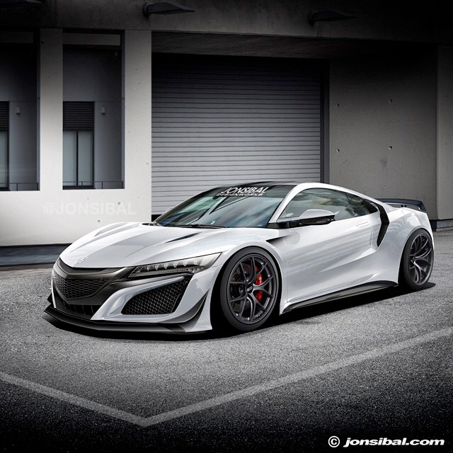 Rendered: Widebody NSX By Jon Sibal