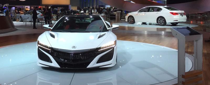 2017 Acura NSX in 130R White. 2015 LA Auto Show