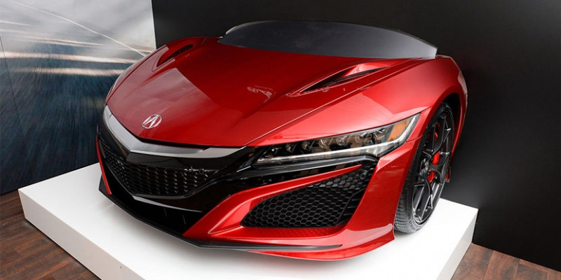 Bid on a Celebrity-Signed 2017 Acura NSX Hood