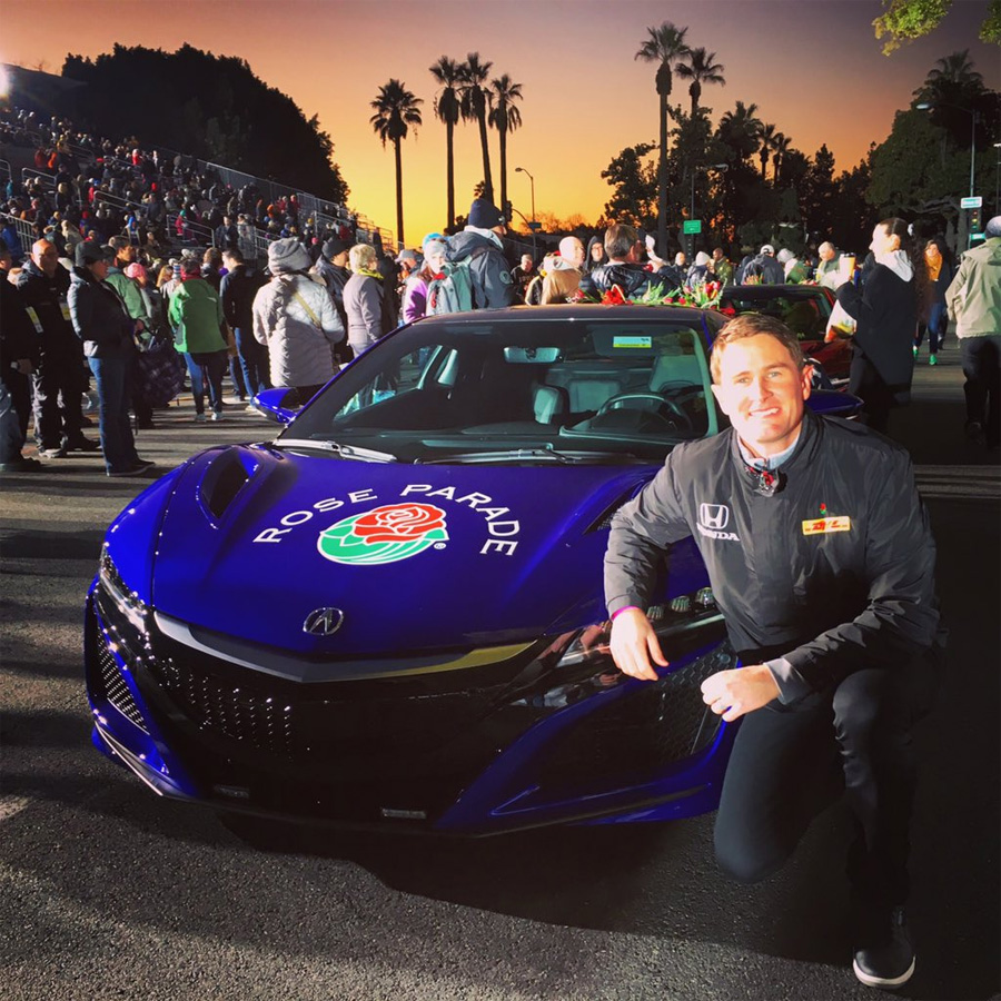 2017 Acura NSX Leads The 2016 Rose Parade As Official Pace