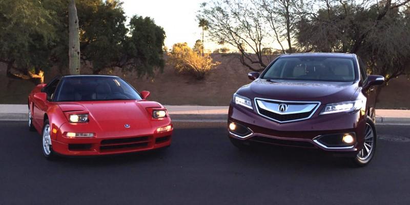 2016 Acura RDX and 1992 Acura NSX