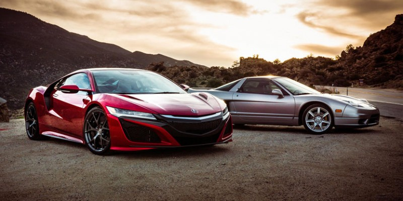 2005 NSX meets 2017 NSX. Photo by Nick Miotke/Roadshow