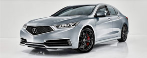 Rendered: 2018 Acura TLX with Diamond Pentagon Grille
