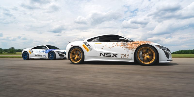 Pikes Peak Acura NSX Time Attack 1 and 2 Vehicles