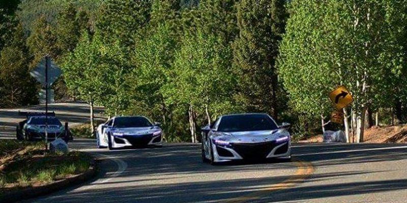 Acura NSX, 4-motor EV Concept at Pikes Peak