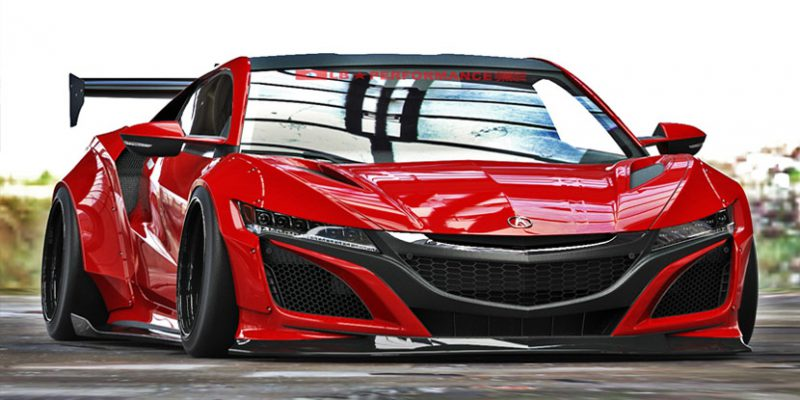 Liberty Walk Acura NSX Wide-body Kit