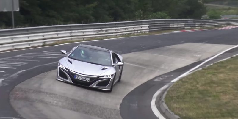 NSXs Testing on the Nurburgring