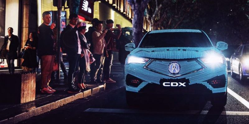 LED Wrapped Acura CDX in Shanghai