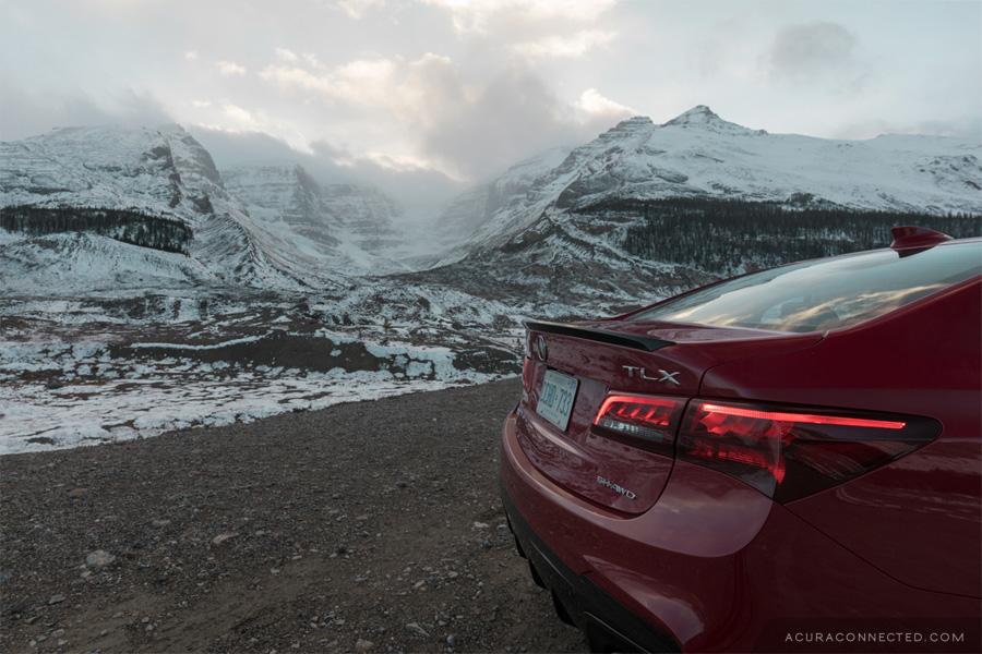 2018 Acura TLX in Jasper, Alberta - Athabasca Glacier