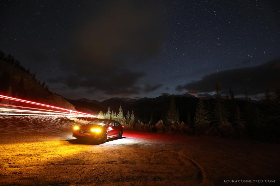 2018 Acura TLX in Jasper, Alberta - Maligne Lake Road