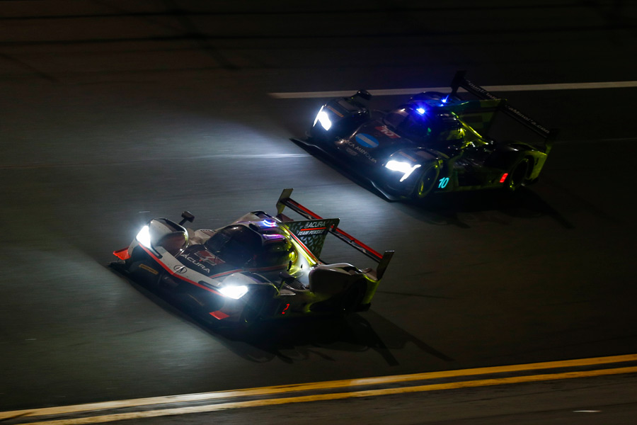 The #6 Acura Team Penske ARX-05, driven by Juan Pablo Montoya, Dane Cameron and Simon Pagenaud