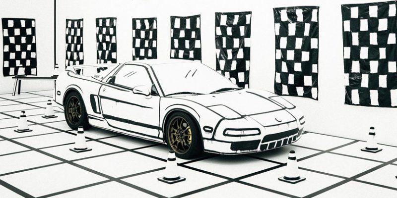 Joshua Vides Acura NSX Sketch Illusion