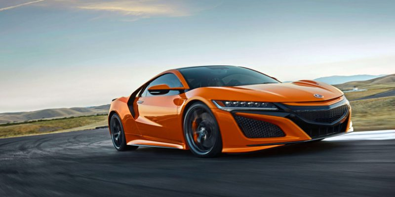 2019 Acura NSX in Thermal Orange Pearl