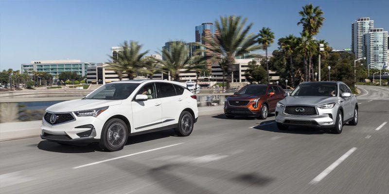 2019 Acura RDX vs. Cadillac XT4 vs. Infiniti QX50