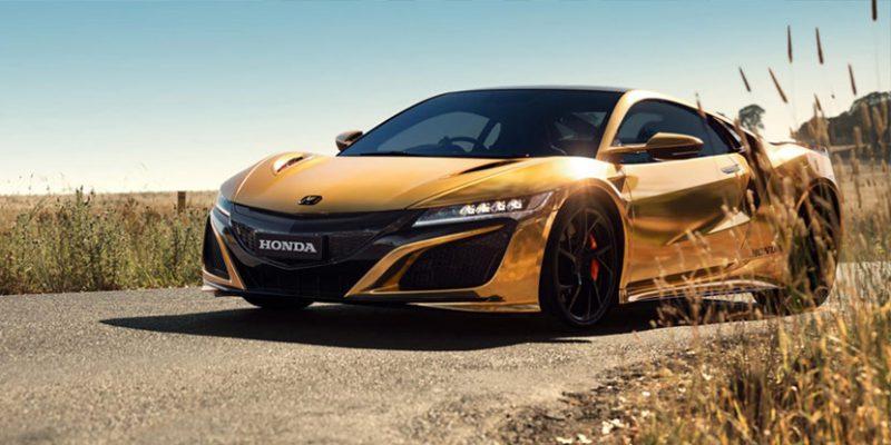 Honda Celebrates 50 Years in Australia with Golden NSX