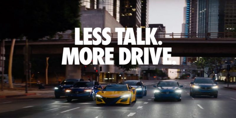 """Less Talk, More Drive"" in New Brand Campaign"