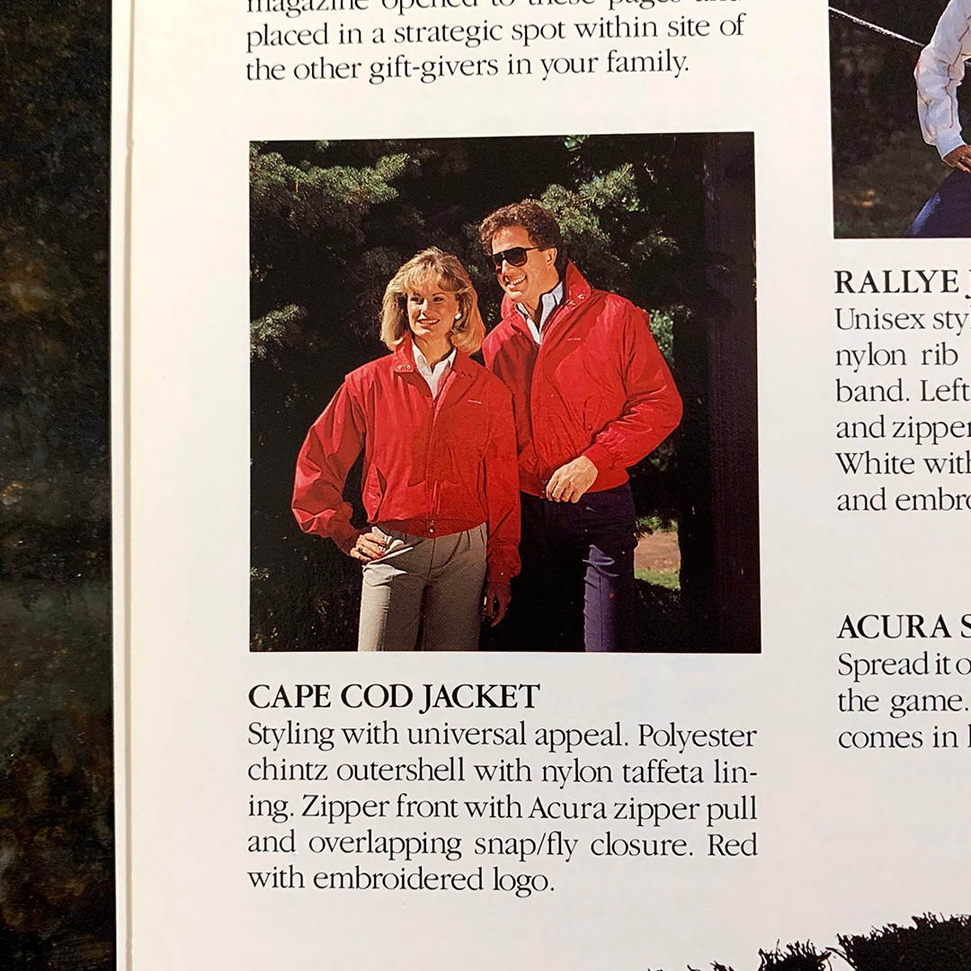 Snapshots: Acura Apparel From The 80s