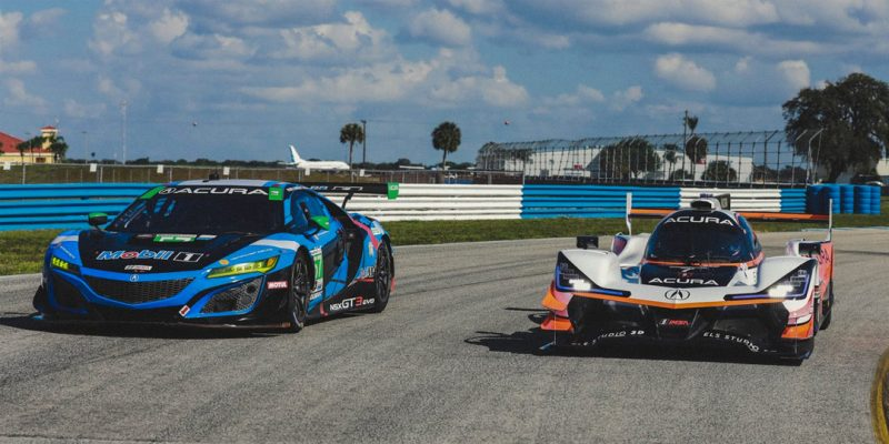 Acura Pro Drivers Swap Race Cars at Sebring Test
