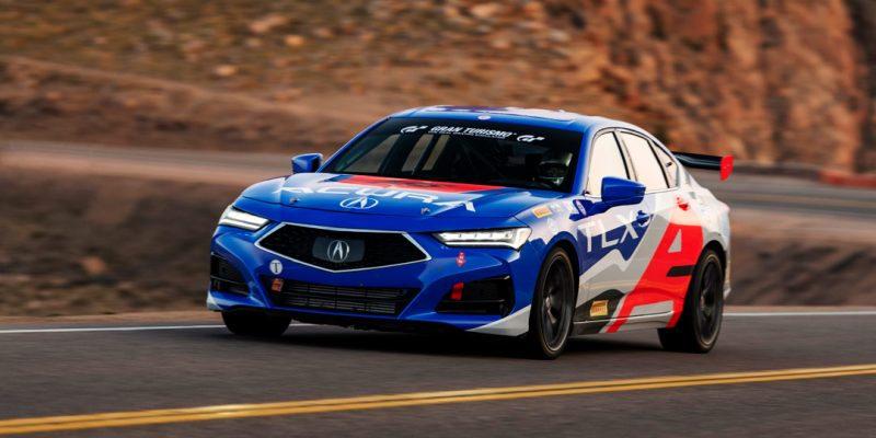 2021 Acura TLX at Pikes Peak