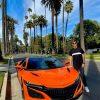 Pierre Gasly Thermal Orange Pearl Acura NSX