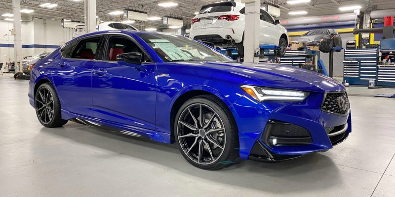 "2021 Acura TLX with Accessories and 20"" Vossen Wheels"