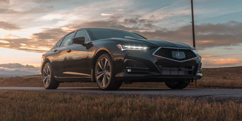 Phantom Violet Pearl 2021 TLX at Sun Down