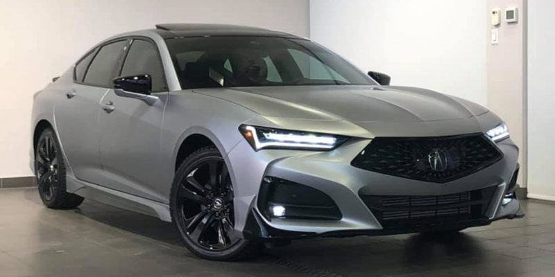 2021 Acura TLX A-Spec Silver Wrap