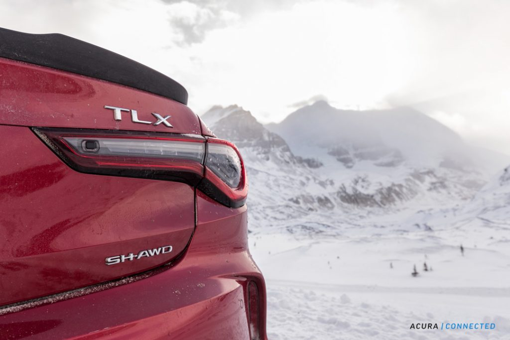 2021 Acura TLX A-Spec in Alberta's Rockies
