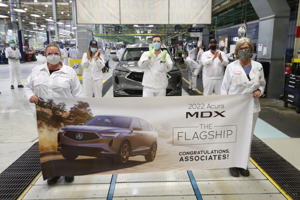 Production of All-New 2022 MDX Begins in Ohio