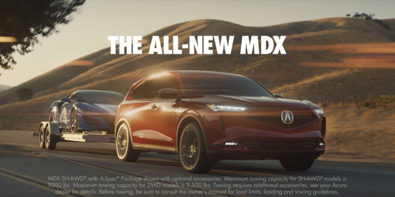 New 2022 Acura MDX Launch Campaign