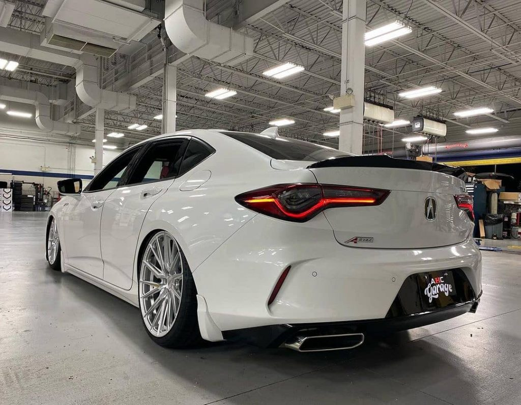 2021 Acura TLX on Air Suspension | via Mike Chan
