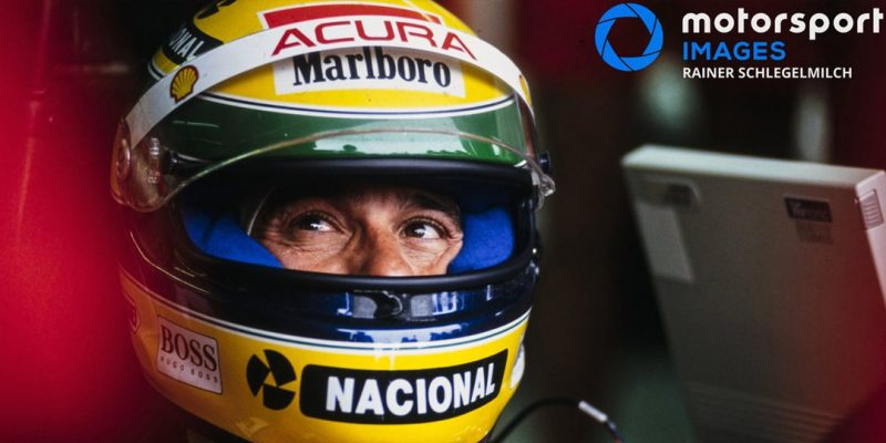 Aryton Senna Acura Visor | Motorsport Images